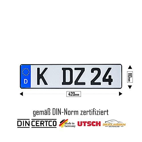 1 Carbon Kfz-Kennzeichen in der Größe...