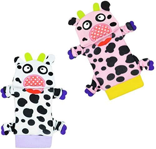 Baby Socken,Jingle Socks,Tierdekoration Mit Bunten Babyrasseln Jingle Socks (Kuh)