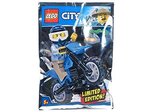 Blue Ocean LEGO City Policeman and Motorcycle Foil Pack Set 951808 (bolsa)