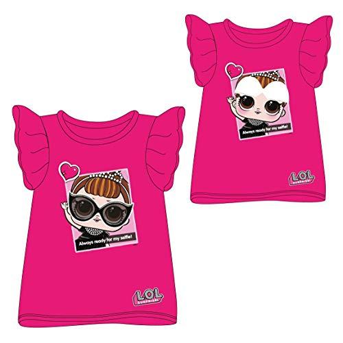 Cerdá Camiseta Manga Corta Premium LOL, Rosa (Rosa C08), 8 años para Niñas