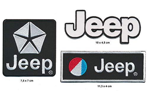 RG20 Jeep Patches Aufnäher 3 Stück Auto Wrangler Grand Cherokee USA Black
