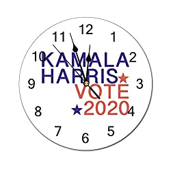 Tian Smile Harris 2020 Presidential Candidate 10 inch Wall Clock, Silent, Graduated Battery Power, Suitable for Home Office and School use