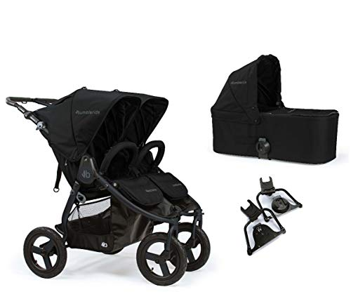 Bumbleride Indie Twin Pram 3 in 1 Travel System Package All Terrain - Matte Black