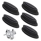 ICYANG 5 Pairs Luggage Feet Foot Pad, Trunk Bottom Side Stand Feet with 40 Screws, Replacement Plastic Luggage Stud Foot Feet Pad Black For Any Bags Kit