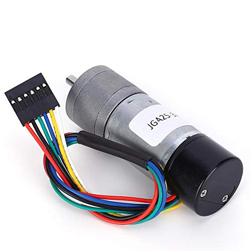 Toerentalreductor JGA25-370 GB DC 12 V geluidsarme aandrijfmotor met Encoder voor elektrische gordijnen