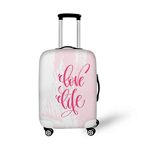 Love Life Fashionable Baggage Suitcase Protector Travel Luggage Cover Anti-Scratch