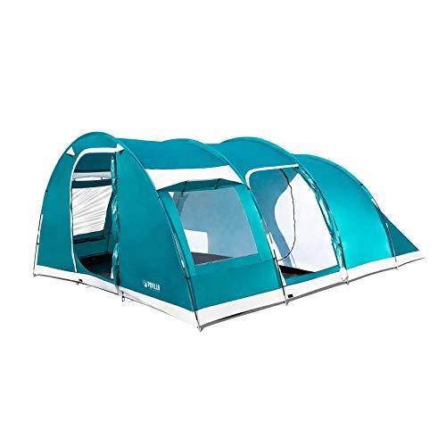 Bestway Pavillo Zelt Family Dome 6 490x380x195 cm, Familienzelt mit Vorraum für 6 Personen, Camping Zelt mit 2 Eingängen