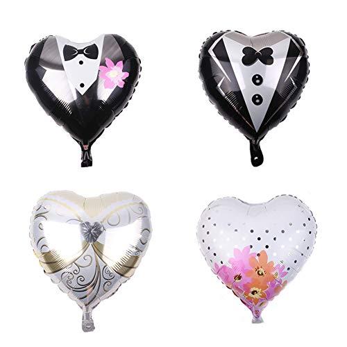 ED-Lumos 4 stks bruiloft hart liefde herbruikbare helium ballonnen voor verjaardagsfeestje decoratie cadeau