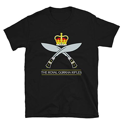 DKISEE Gurkhas Nepali Soldaten of British India Nepal Kukri khukuri Soldaten Nepalesische indische Soldaten Messer The Royal Gurkha Rifles T-Shirt - X0644