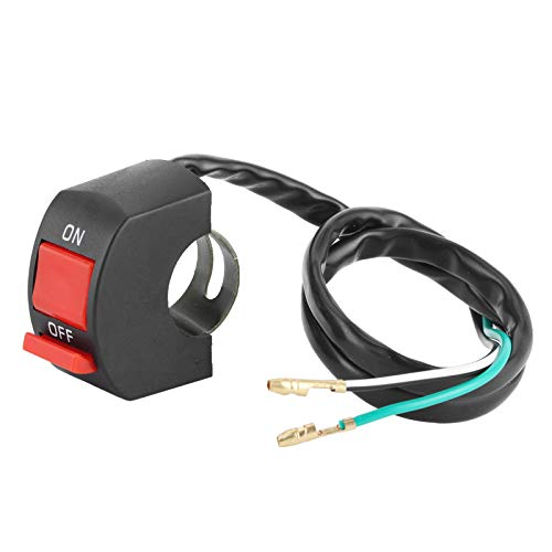 Interruptor de luz Universal del Manillar de la Motocicleta Botón de luz Ciclismo Motocicleta con Manillar de 22‑25 mm / 0.9‑1.0in