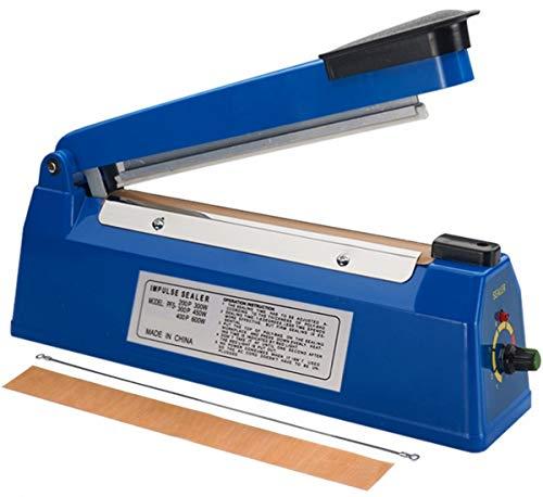 Ru Impulse Heat Sealer 12 inch Impulse Bag Sealer Poly Bag Sealing Machine Heat Sealing Machine with Replacement Kit for Plastic Bags PE PP Bags