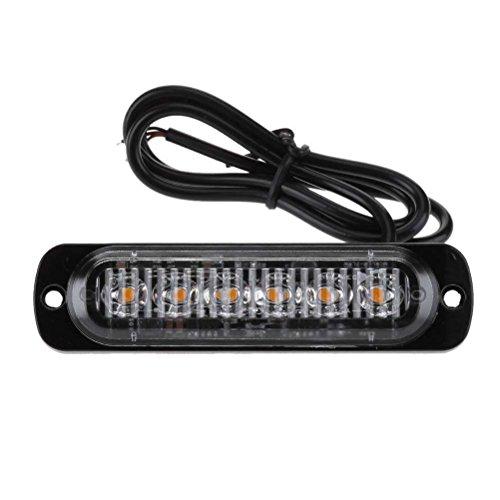 VORCOOL LED Luz estroboscópica 18 Modos Luz de Advertencia de Emergencia ultrarrápida Luz de precaución para Camiones Cars