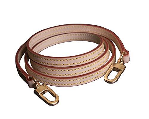 Vachetta Leather Strap For Shoulder Bag Long Cross Body Strap for Small Bags Pochette Mini NM Eva Favorite PM MM (Vachetta Strap 39 inches(100cm))