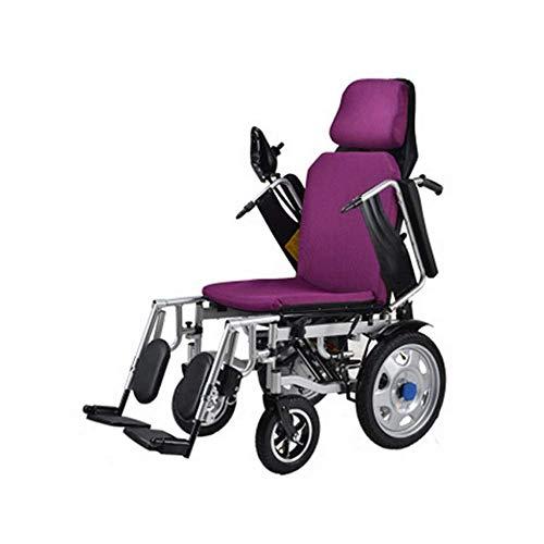 Elektrorollstühle Air Travelapproved Power Compact Mobilitätshilfe Leichter Rollstuhl, Zusammenklappbarer Rollstuhl Tragbarer, Zusammenklappbarer Motorisierter Rollstuhl mit Elektroantrieb für Den He