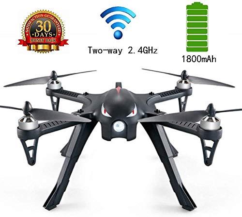 ZGYQGOO Drones Caméra GPS HD, Distance contrôle Longue 360 °, Mosans tête, Longue portée, Caméra GPS HD WiFi 2.4Ghz avec vidéo intégrée avec Batterie intégrée 1800 mAh, Noir