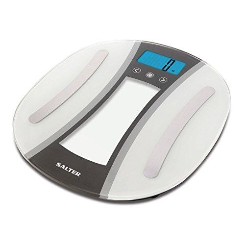 Salter blanco/plata Curve analizador báscula de baño