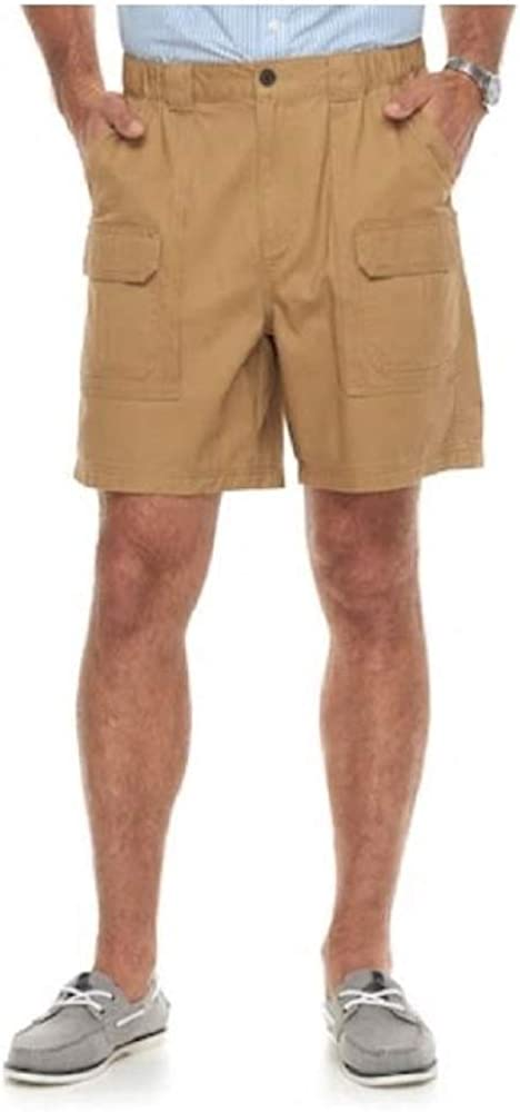 Croft & Barrow Side Elastic Relaxed Fit Cotton Cargo Shorts