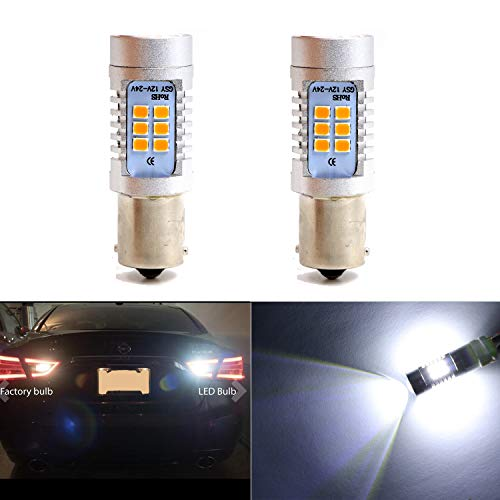 Backup Light 1156 1156A 1156NA 87 93 97 97A 97NA Reverse Lights Bulbs with 21 SMD Xenon White LED 2835 Chips Side Marker Light Daytime Running Light (Set of 2) 1994 Nissan 240sx Type