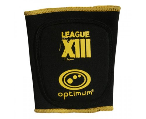 OPTIMUM Optimale Men's League XIII Bizeps-Schutz Schwarz/Gelb S
