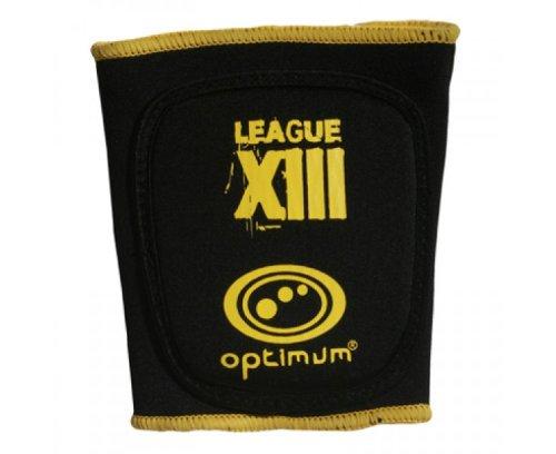 OPTIMUM Optimale Men\'s League XIII Bizeps-Schutz Schwarz/Gelb S