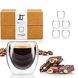 Tempery✮ Tazas Cafe Doble Pared/Vasos Térmicos Cafe Premium Espresso - 8 cl - Juego 6 Taza de Cafe -...