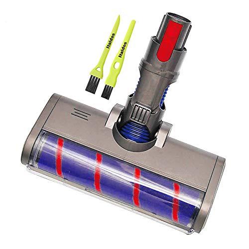 Italdos Cepillo Motorizado compatible para Dyson v10 V7 V8 V10 V11 Cepillo Eléctrico Turbo a Rodillo con Cerdas Suaves para Parquet Baldosas con Luz LED Automática