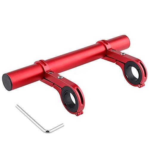CHUER Extensor de Manillar para Bici, Soporte Manillar Bicicleta Soporte de Extensión con Abrazaderas Dobles, Soporte para Luz de Bicicleta MTB, GPS, Teléfono, Velocímetro - 20CM