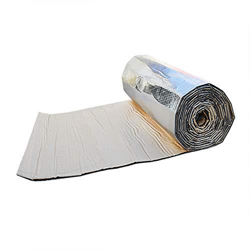 KKmoon Insonorizante Forro 7mm 50 x 100cm, Papel Adhesivo de Espesor Espuma Aislante de Calor Aislamiento Acústico Amortiguación de Ruido