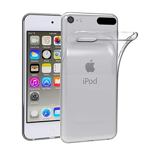 ivoler Hülle Case Kompatibel für Apple iPod Touch 7/6 / 5 (7, 6. und 5. Generation), Premium Transparent Klare Tasche Schutzhülle Weiche TPU Silikon Gel Handyhülle Schmaler Cover
