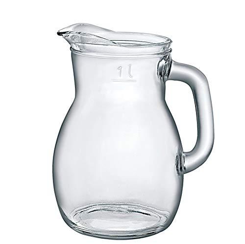 Bormioli Rocco 146160 Bistrot Krug, mit Füllstrich bei 1l, Glas, transparent, 1 Stück
