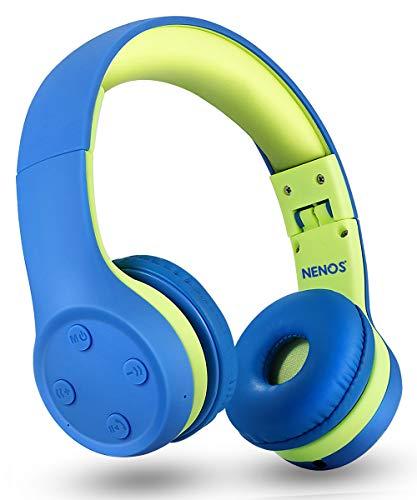 Nenos Bluetooth Kids Headphones Wireless Kids Headphones 93dB Limited Volume Wireless Headphones for Kids(Teal)
