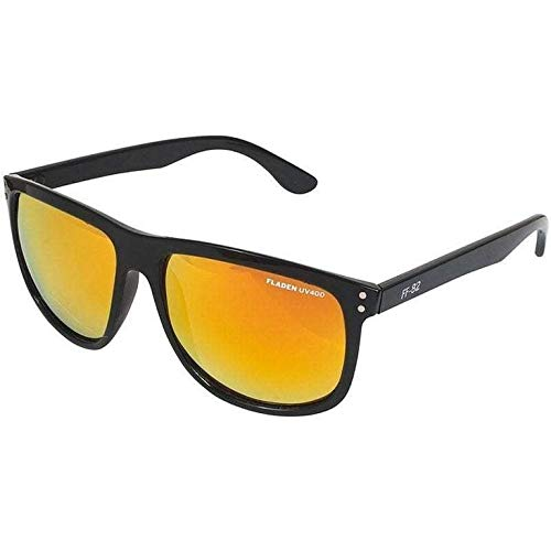 Fladen - Occhiali da sole polarizzati Urban, 3 modelli, protezione UV400, lenti e montanti, Specchio arancione