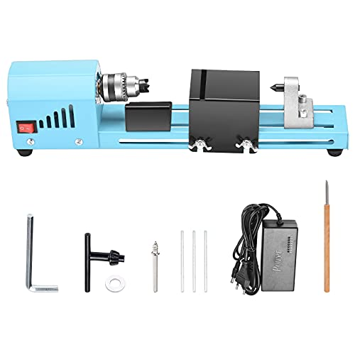 Mini Lathe Beads Polisher Machine 150W, Portable Lathe Beads Machine, DIY Woodworking Lathe, Grinding Polishing Beads, Polishing Beads Drill Rotary Tool Set