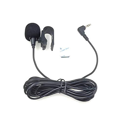 ZJ025MR Palo en el Clip del micrófono de Solapa estéreo for el Coche GPS/Bluetooth Activado Audio DVD micrófono Externo, la Longitud del Cable: 3m, Codo de 90 Grados de 3,