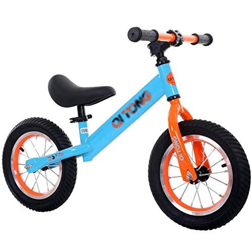 KXBYMX Draisiennes Enfant Balance Bike Metal Metal Girl Course vélo d'entrainement draisienne puky (Color : Blue)