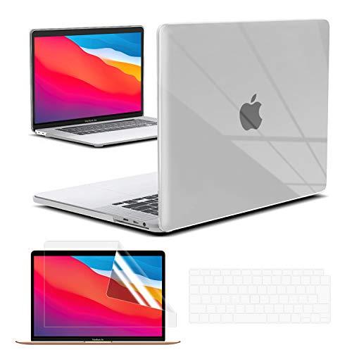 TOWOOZ【2020改良型】Macbook Air ケース 13インチ Apple M1 Chip 用 排熱口設計 ハードケース 薄型軽量 耐衝撃 JISーキーボードカバー 付き + 液晶保護フィルム 全面保護 MacBook Air ケース A2179/A2337 対応