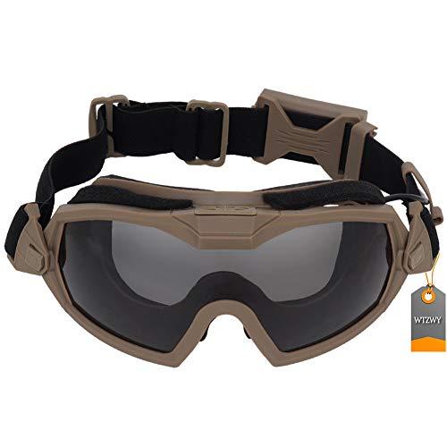 WTZWY Gafas tácticas Prueba Niebla Ventilador Aire