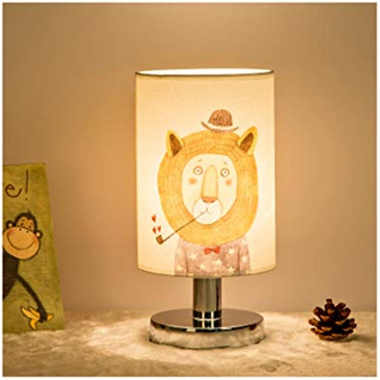 HARDY-YI Tischlampe Moderne Minimalistische Europische Stil Schlafzimmer Schreibtischlampe Cartoon Fernbedienung LED Energiesparende Leselampe -718 Tischlampe (Farbe   E, Design   Taste)
