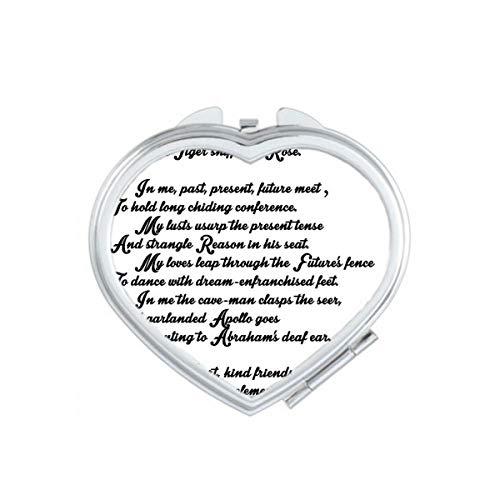 DIYthinker Poésie Citation Life Like Summer Flower Coeur Maquillage Compact Miroir de Poche Portable Mignon Petit Cadeau Miroirs Main Multicolor