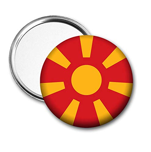 Republiek Macedonië Vlag Pocket Spiegel voor Handtas - Handtas - Cadeau - Verjaardag - Kerstmis - Stocking Filler - Secret Santa