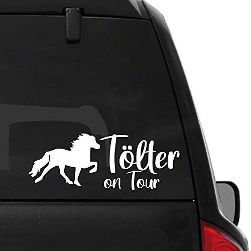 Pegatina Promotion Pferde Silhouette Typ2 ca 30cm mit Schriftzug Tölter on Tour reiten Reitsport Aufkleber Sticker Profi Qualität