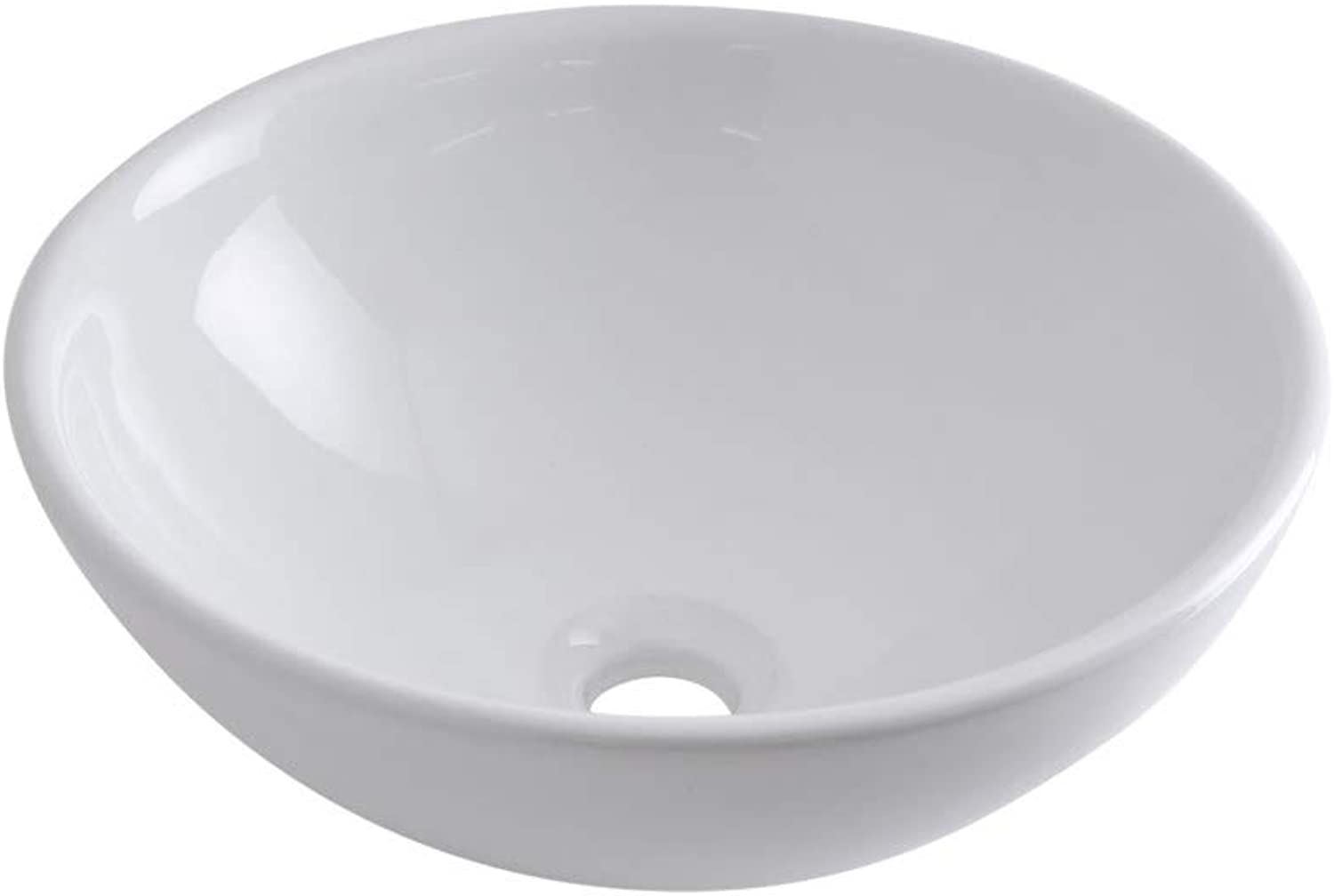 Milano Irwell Round White Ceramic Counter Top Basin - 400 mm
