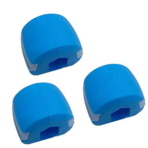 3 Stück pro Packung Kiefermuskeltrainer Kieferausrichtungstrainer Kiefer-Fitnessball Gesichtsmasseter Muskeltrainer Gesichtstrainer, langlebig, beseitigt die Rundheit Ihres Gesichts, 18 kg