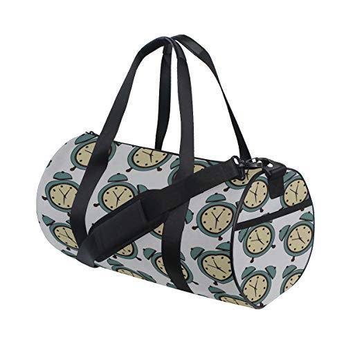 Compact Alarm Clock Weak Up Tool Custom Multi Lightweight Large Yoga Gym Totes Handbag Travel Canvas Duffel Bags With Shoulder Crossbody Fitness Sport Luggage For Boy Girl Men Women