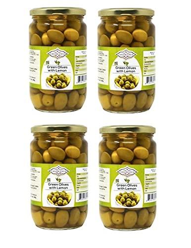 Casablanca safety Green Super sale period limited Olives with Lemon 25.397 380g Jars OZ 4