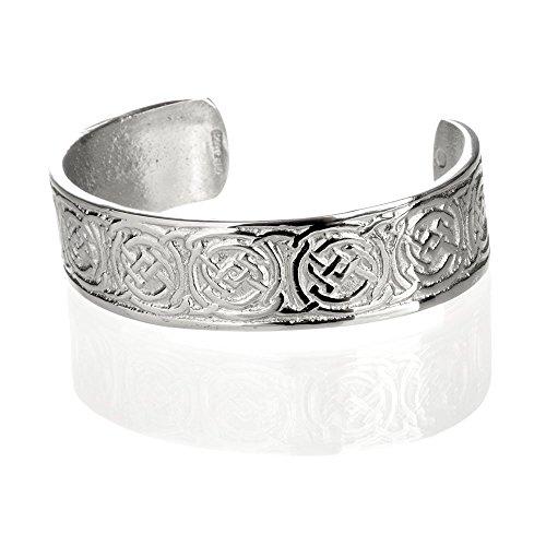 Celtic Ornaments - Keltischer Armreif aus Schottland - polierter Zinn (Pewter)