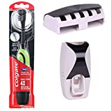 Colgate 360 Battery Charcoal power Toothbrush , Pc |(Free wall mount automatic toothpaste dispenser...