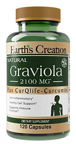 Graviola-Soursop 2100 mg with Curqlife 120 Capsules