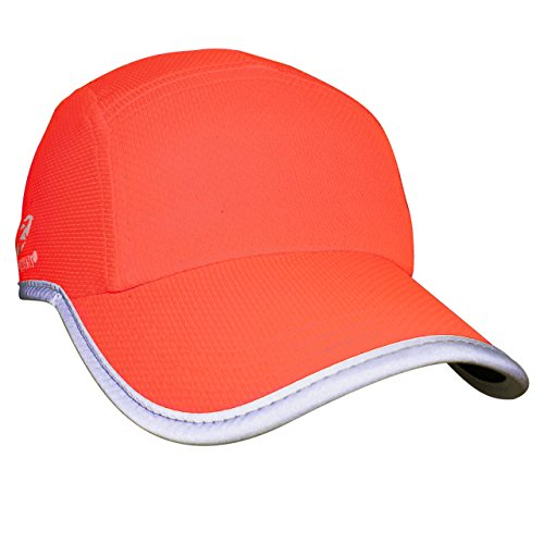 Headsweats Reflective Race Hat, Bright Coral