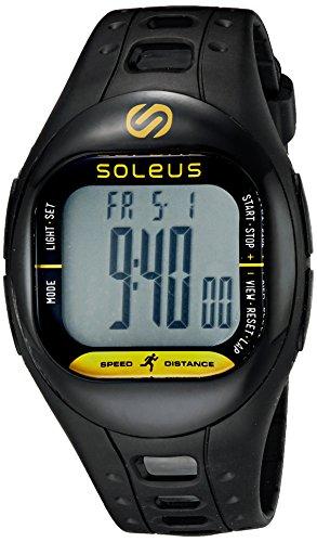 Soleus tempo resistente all' acqua fitness Activity Tracker, unisex, Nero, N/A